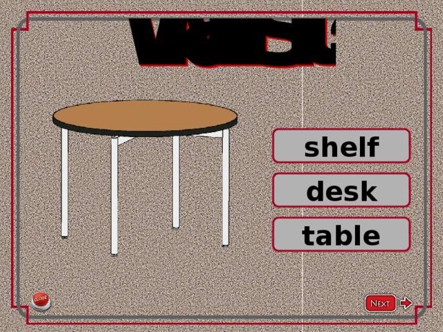 shelf desk table