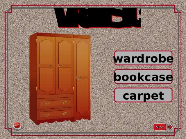 wardrobe bookcase carpet