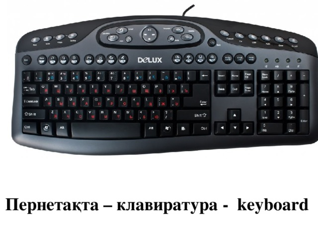 Пернетақта – клавиратура - keyboard