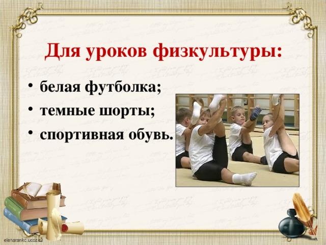 Для уроков физкультуры: