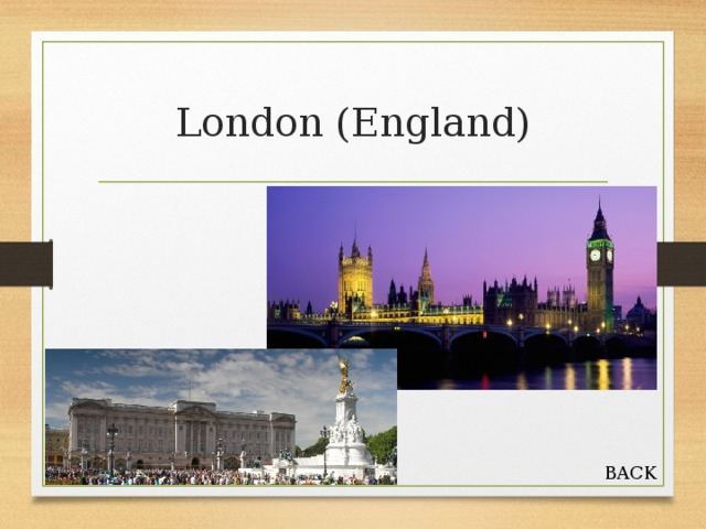 London (England) BACK