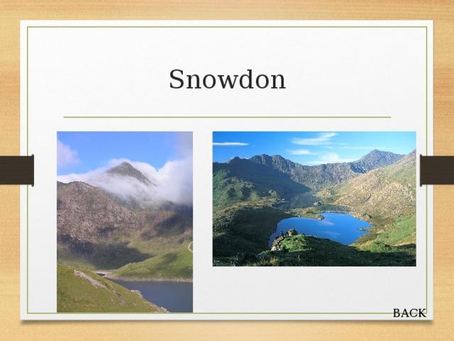 Snowdon BACK
