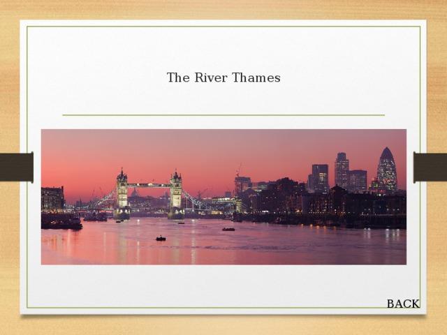 The River Thames BACK