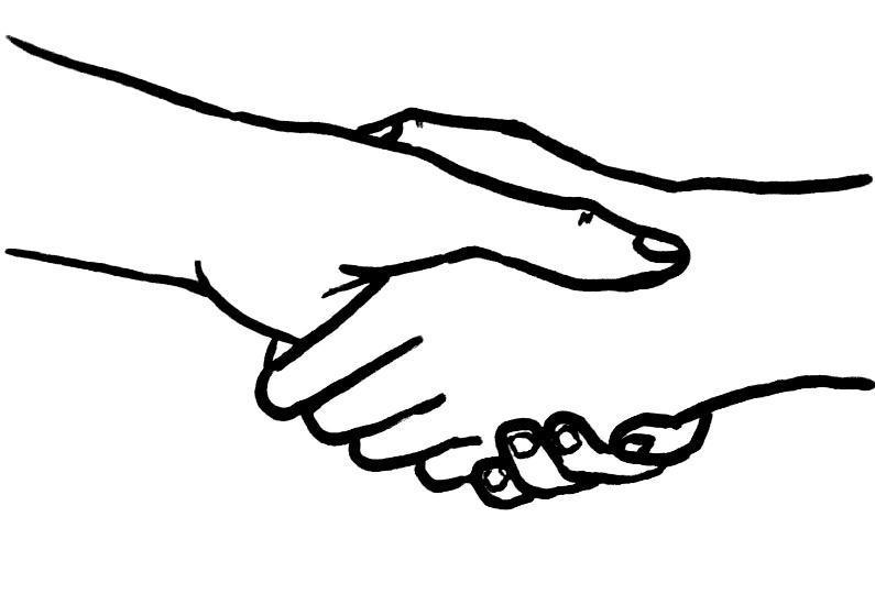 Рисунки рукопожатие друзей