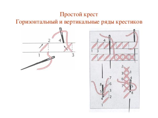 Простой крест  Горизонтальный и вертикальные ряды крестиков