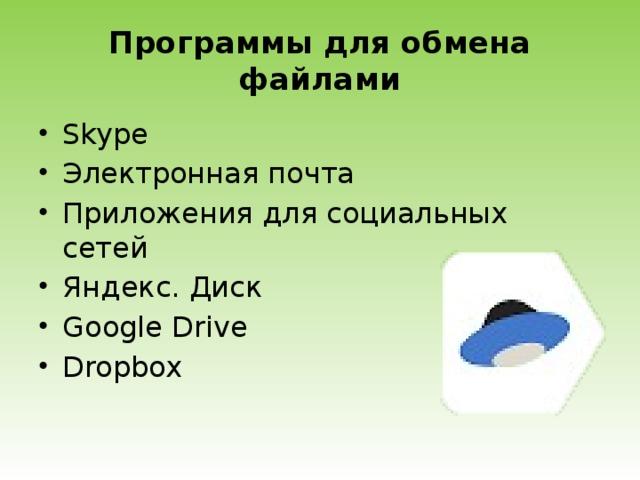 Программы для обмена файлами