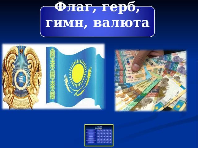 Флаг, герб, гимн, валюта