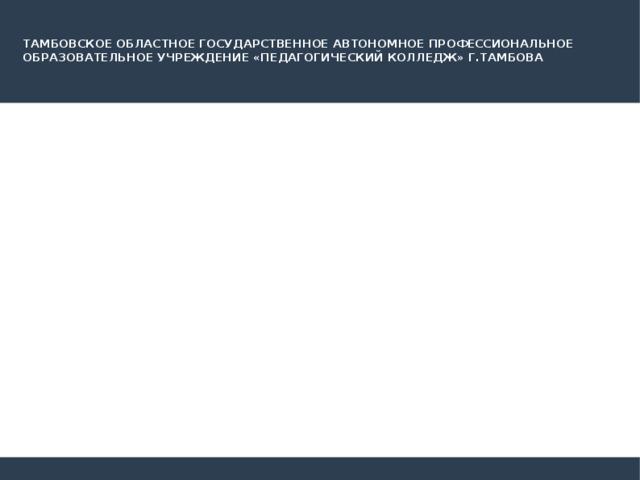 ТАМБОВСКОЕ ОБЛАСТНОЕ ГОСУДАРСТВЕННОЕ АВТОНОМНОЕ ПРОФЕССИОНАЛЬНОЕ ОБРАЗОВАТЕЛЬНОЕ УЧРЕЖДЕНИЕ «ПЕДАГОГИЧЕСКИЙ КОЛЛЕДЖ» Г.ТАМБОВА Статус молодых специалистов Выполнила студентка Группы Д-42 Лохова Полина