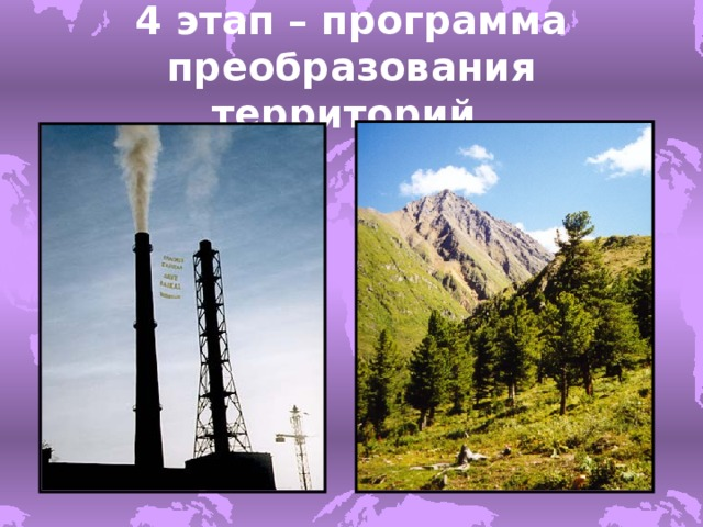 4 этап – программа преобразования территорий .