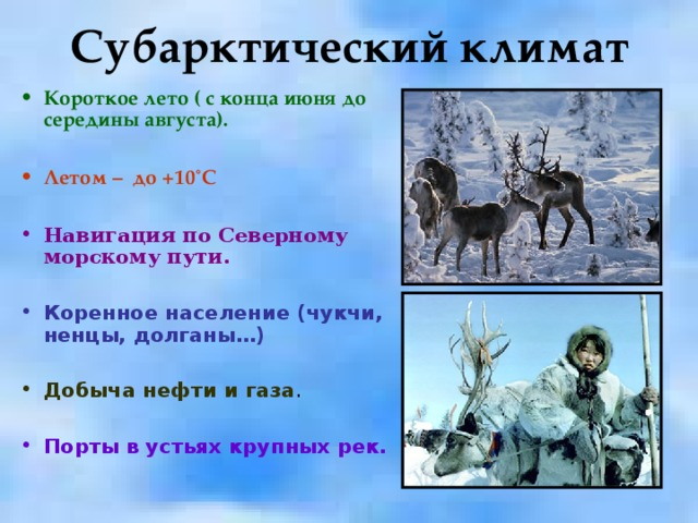 Субарктический климат