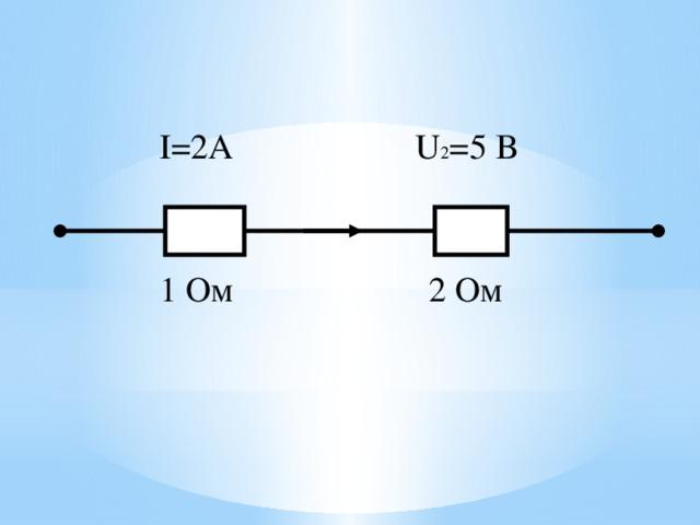 I=2А U 2 =5 B 1 Oм 2 Ом 18