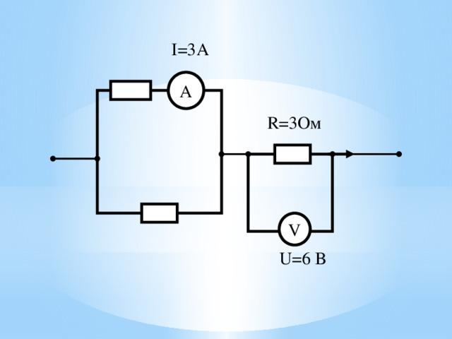 I=3А А R=3Ом V U=6 В 19