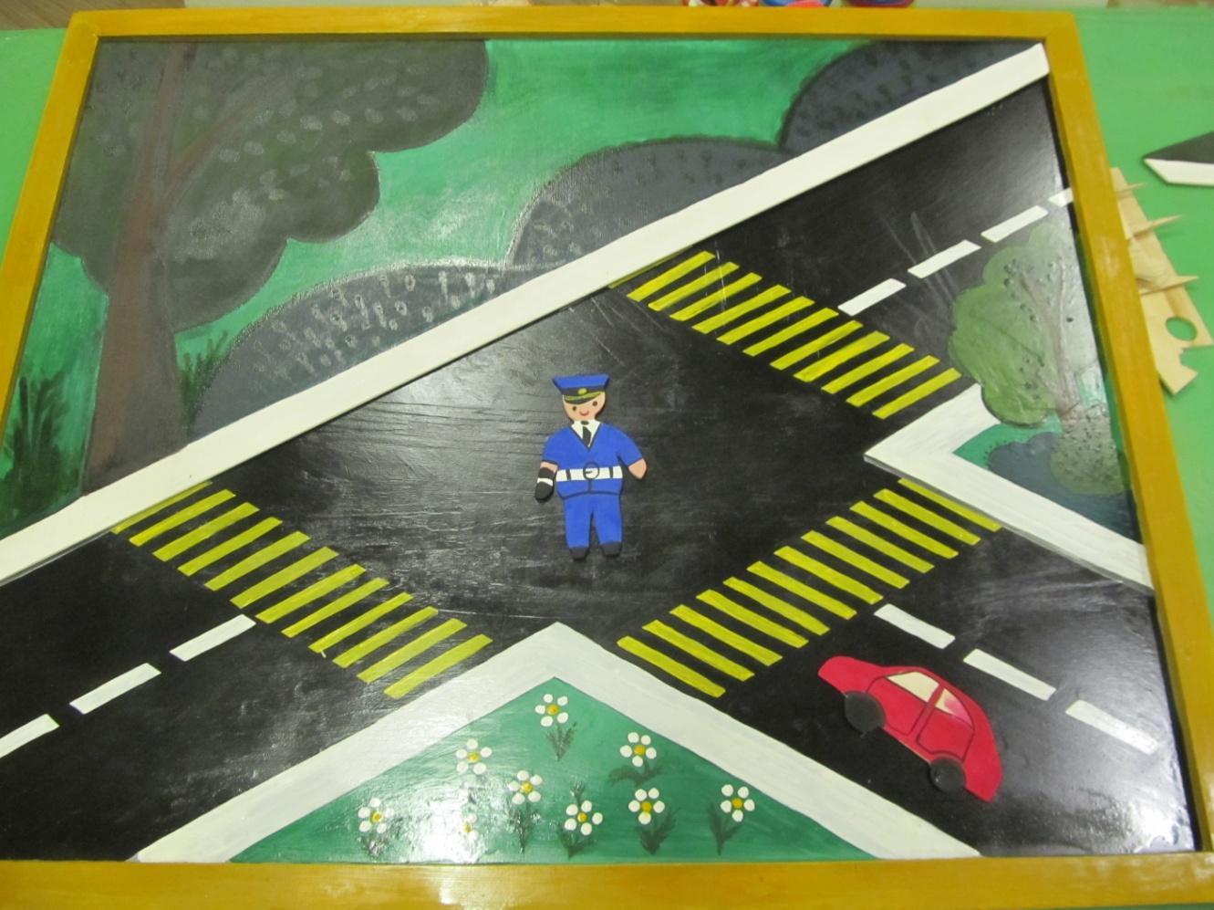 макет дорожного перекрестка картинки высоты птичьего полета