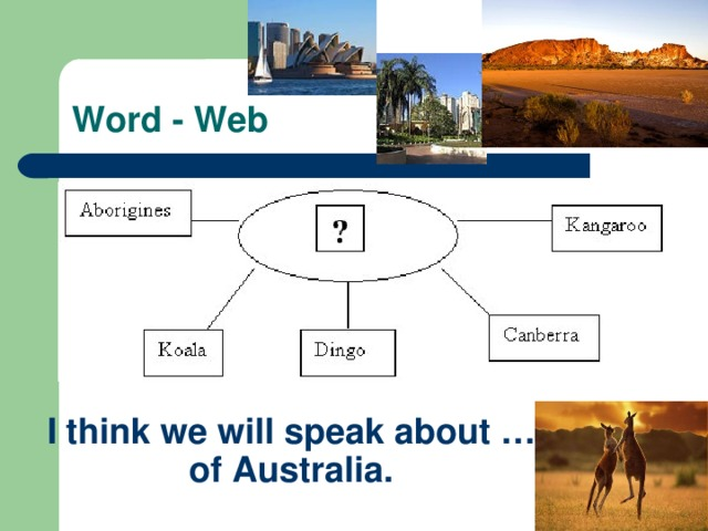 Word - Web I think we will speak about … of Australia.