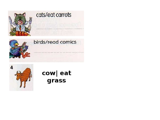 cow| eat grass