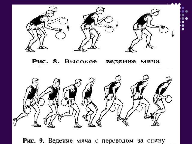техника ведения мяча в баскетболе с картинками