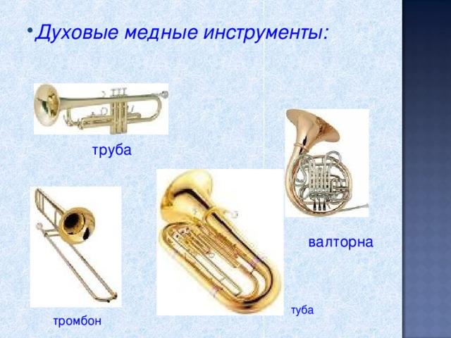 Духовые медные инструменты: