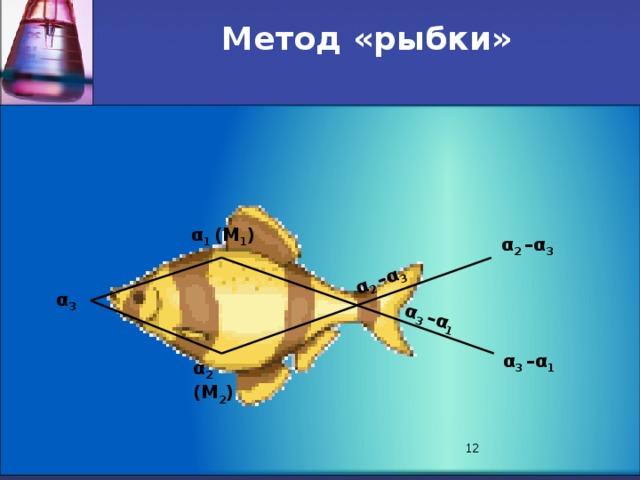 α 2 –α 3 α 3 –α 1 Метод «рыбки» α 1 (М 1 ) α 2 –α 3 α 3 α 3 –α 1 α 2 (М 2 ) 8