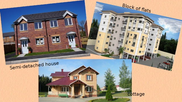 Semi-detached house Block of flats cottage