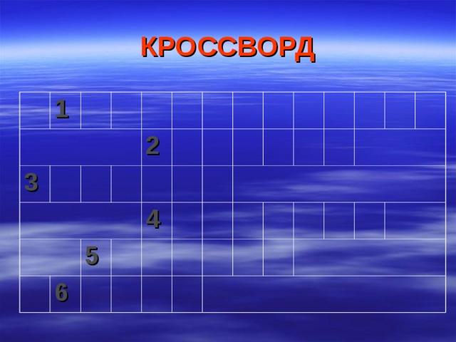 КРОССВОРД 1 3 2 6 5 4