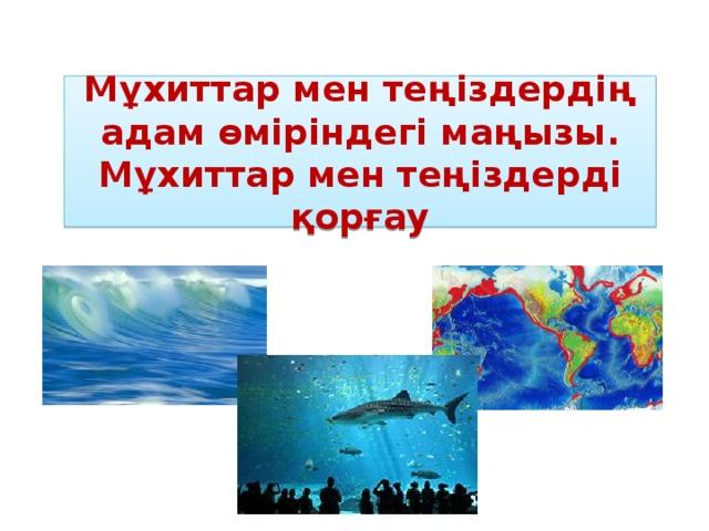 Мұхиттар мен теңіздердің адам өміріндегі маңызы. Мұхиттар мен теңіздерді қорғау