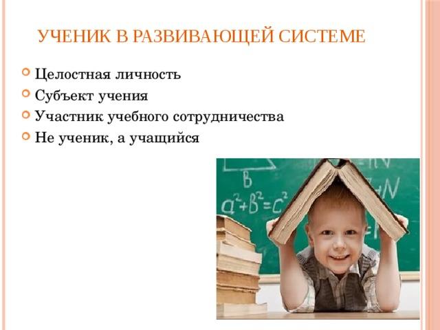 Ученик в развивающей системе