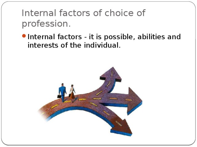 Internal factors of choice of profession.