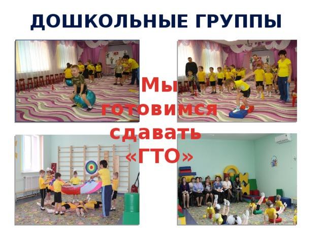 Дошкольные группы   Мы готовимся сдавать «ГТО»