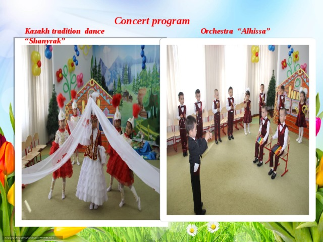 "Concert program Kazakh tradition dance ""Shanyrak"" Orchestra ""Alhissa"""