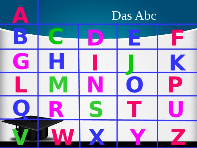 A Das Abc B C D E F G H I K J M N O P L Q U S T R V W X Y Z