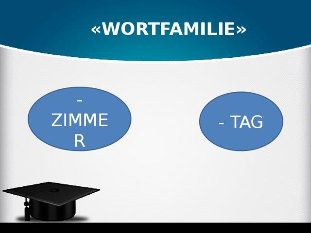 «wORTFAMILIE» -ZIMMER - TAG