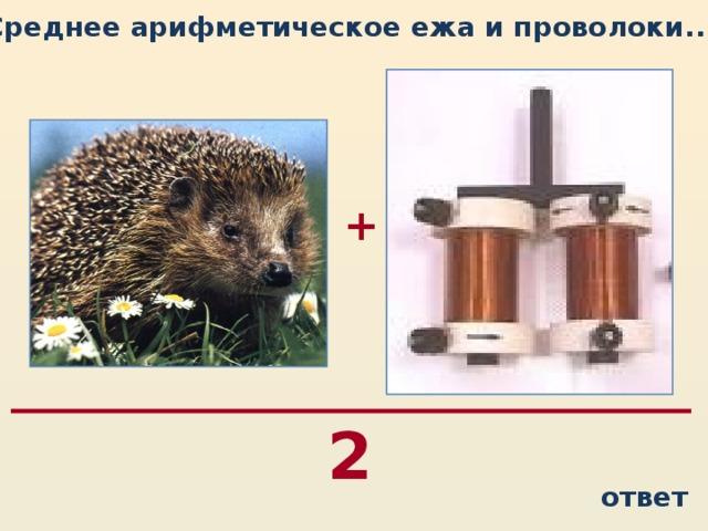 Среднее арифметическое ежа и проволоки...  + 2 ответ