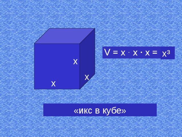 х³ х х х «икс в кубе»