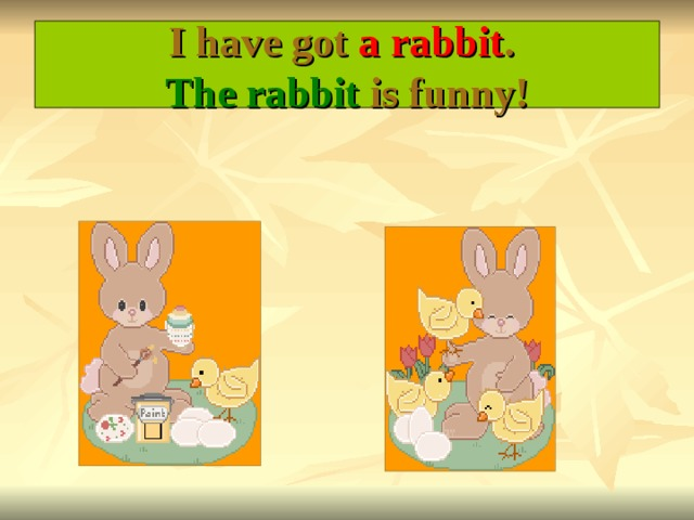 I have got a rabbit .  The rabbit is funny!