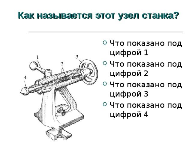 Как называется этот узел станка?