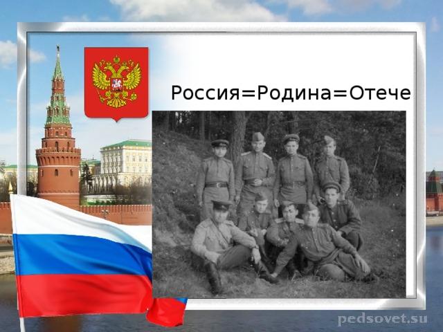 Россия=Родина=Отечество
