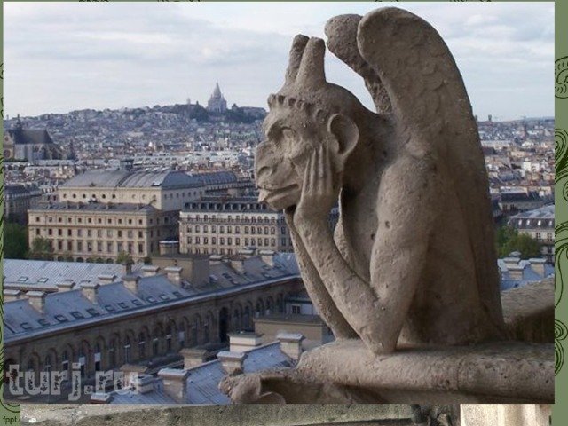 Мы не почти увидим в католическом храме икон, но порталы и алтарные преграды готических соборов сплошь украшены статуями, скульптурными композициями, орнаментами, фантастическими фигурами зверей (химерами).
