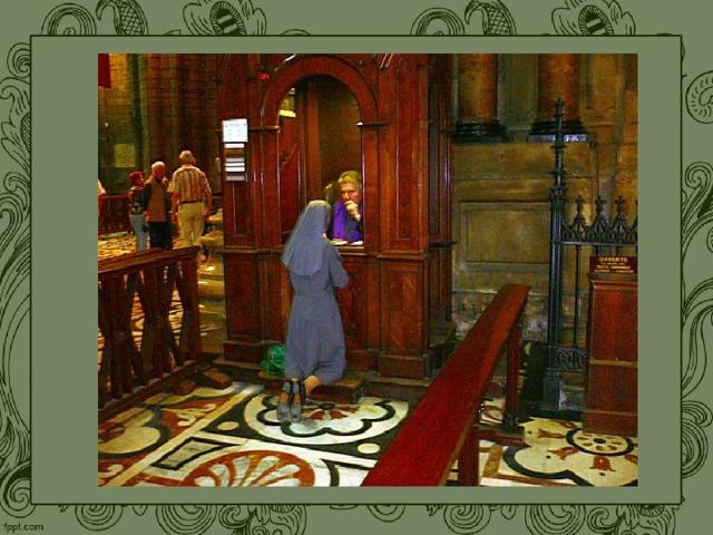 В каждом католическом храме обязательно отводится место для исповеди, которое называется исповедальней или конфессионалом.