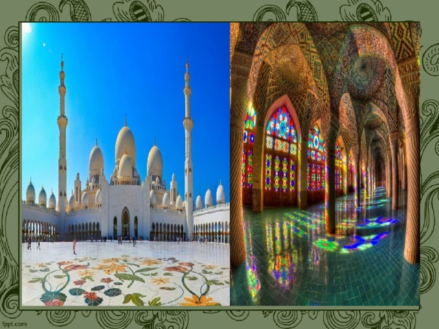 Мусульманская мечеть включает в себя два соразмерных пространства  — открытый двор и затененный молитвенный зал.