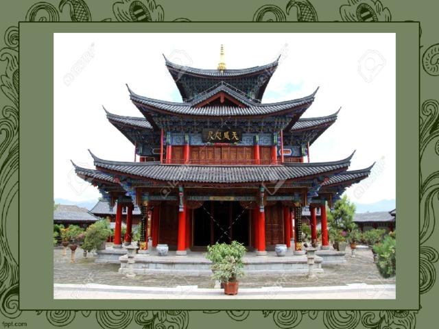 Особенное значение имеет в храмовых ансамблях буддийской культуры пагода. Шпиль, которым заканчивается буддийская пагода, располагается обычно на центральной колонне, под которой хранили драгоценности. Этот клад символизировал прах Будды. Пагода - предназначена для хранения останков земного тела Будды Шакьямуни. Почти в каждом храме есть предание, как эти останки попали в Японию: перенеслись на острова чудесным путем или же их прислали в дар правители материковых держав. Пагода имеет три или пять ярусов, в центре нее всегда есть главный столб из цельного ствола большого дерева. Останки Будды хранятся или по центральным столбом, или на его верхушке   Буддийские храмы отличаются особым устройством карнизов: они загибаются настолько мягко и изящно, что принимают вид практически горизонтального расположения. Крышам свойственен шатрово-шипцовый стиль. Высота зданий была небольшой, так как не должна была нарушаться гармония с окружающей природой. В декоре буддийских храмов преобладают жёлтый и красный цвета.