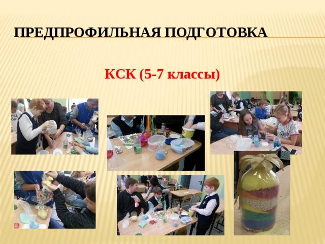 Предпрофильная подготовка КСК (5-7 классы)