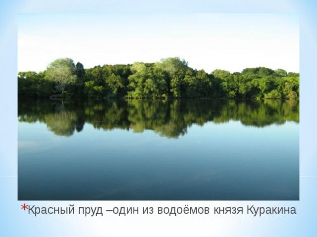 Красный пруд –один из водоёмов князя Куракина