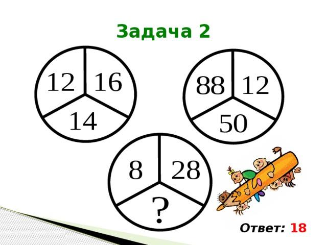 Задача 2 Ответ: 18
