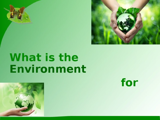 What is the Environment   for you?
