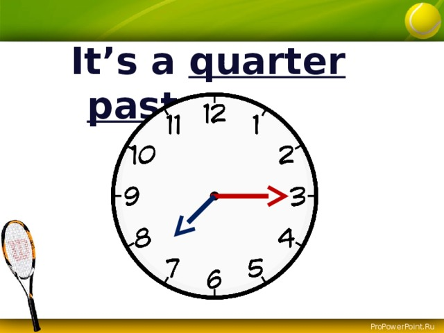 It's a quarter  past ….