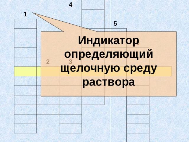 1 4 5 2 3 6 Индикатор определяющий щелочную среду раствора