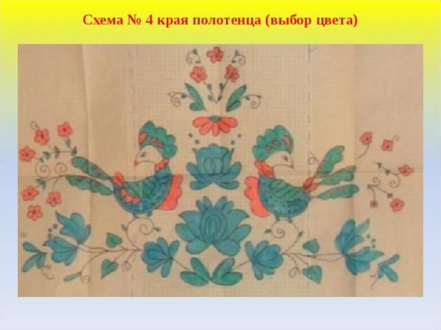 Схема № 4 края полотенца (выбор цвета)