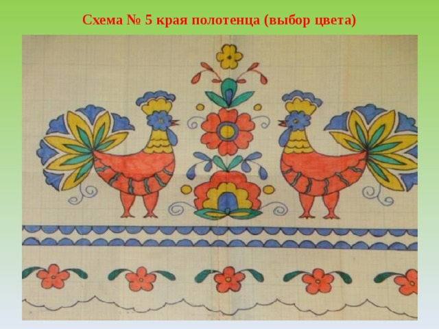 Схема № 5 края полотенца (выбор цвета)