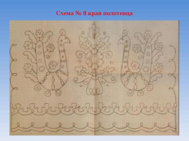 Схема № 8 края полотенца