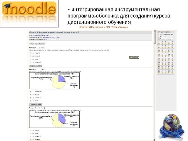 - интегрированная инструментальная программа-оболочка для создания курсов дистанционного обучения
